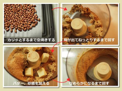 ピーナッツバター作業工程
