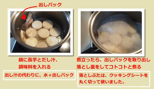 長芋のほっこり煮物(工程)