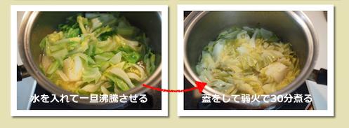 キャベツの冷製スープ(作業2)
