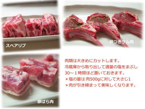 肉の下準備