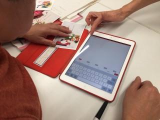 iPadで年賀状作成